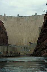 Hoover Dam on border of Arizona, AZ, Nevada, NV, flood control, drinking water source, Colorado River, image nv413-18632.Photo copyright: Lee Foster, www.fostertravel.com, lee@fostertravel.com, 510-549-2202