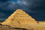 The stepped Pyramid of Djoser, Saqqara, Al Badrashin, Giza Governate, Egypt.