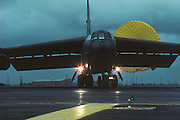 B-52H w landing drag chute