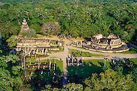 Sri Lanka, province du Centre-Nord, cité historique de Polonnaruwa, classée au Patrimoine Mondial de l'UNESCO, quadrilatere, terrasse de la dent, vue aerienne // Sri Lanka, Ceylon, North Central Province, ancient city of Polonnaruwa, UNESCO World Heritage Site, quadrangle, Vatadage temple, aerial view