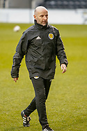 Brian Mclaughlin Scotland U17 Head Coach during the U17 European Championships match between Portugal and Scotland at Simple Digital Arena, Paisley, Scotland on 20 March 2019.
