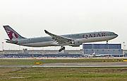Qatar Airways Airbus A330 Photographed at Malpensa airport, Milan, Italy