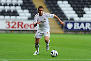 Swansea city's Angel Rangel.Pre-season friendly match, Swansea city v Blackpool at the Liberty Stadium in Swansea, South Wales on Tuesday 7th August 2012. pic by Andrew Orchard, Andrew Orchard sports photography,