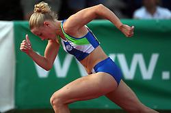 Sara Oresnik at Athletic National Championship of Slovenia, on July 20, 2008, in Stadium Poljane, Maribor, Slovenia. (Photo by Vid Ponikvar / Sportal Images).