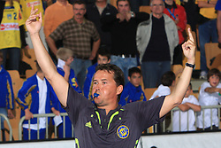 Referee Frank Lemme at E group of EHF Champions League Men 2008/2009 between RK Cimos Koper (SLO) and Portland San Antonio (ESP), on October 18, 2008,  in Bonifika Hall, Koper, Slovenia. (Photo by Vid Ponikvar / Sportida)