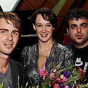 NLD/Amsterdam/20100927 - CD presentatie Anne van Veen, met rechts Jeroen Pap