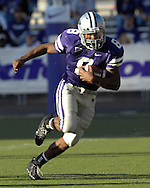 Kansas State running back James Johnson (8) rushed for 115-yards and a touchdown against Iowa State at Bill Snyder Family Stadium in Manhattan, Kansas, October 28, 2006.  The Wildcats beat the Cyclones 31-10.<br />