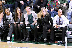 07 January 2017:  Coaches left to right are Kaitlyn O'Boye, Shelby Jackson, Mia Smith and Chad Cusac during an Wheaton Thunder and the Illinois Wesleyan Titans in Shirk Center, Bloomington IL