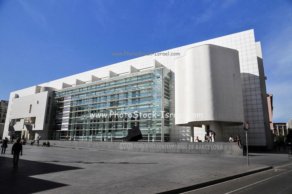 Exterior of the Barcelona Museum of Contemporary Art (MACBA), Barcelona, Catalonia, Spain