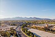 wide angle cityscape Las Vegas, Nevada, USA