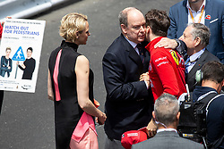 Prince Albert and Princess Charlene of Monaco, Jean Todt, Charles Leclerc stroll along the pit lane at the 77th Monaco Grand Prix, Monaco on May 26th, 2019. Photo by Marco Piovanotto/ABACAPRESS.COM