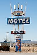Neon Sign along historic Route 66 at Seligman, Arizona