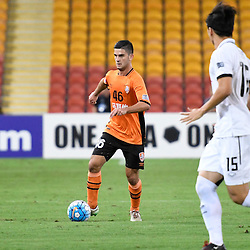 BRISBANE, AUSTRALIA - FEBRUARY 21: Cameron Crestani of the Roar in action during the Asian Champions League Group Stage match between the Brisbane Roar and Muangthong United FC at Suncorp Stadium on February 21, 2017 in Brisbane, Australia. (Photo by Patrick Kearney/Brisbane Roar)
