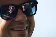 May 23, 2014: Monaco Grand Prix: Bernie Ecclestone reflected in Felipe Massa's glasses.