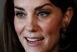 The Duchess of Cambridge at the Institute of Contemporary Arts in London where she and the Duke of Cambridge and Prince Harry were outlining the next phase of their mental health Heads Together campaign.