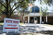 A voter enters a polling station for Super Tuesday on March 1, 2016 in Fort Worth, Texas.  (Cooper Neill for The New York Times)