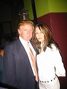 Donald Trup & Melania Knauss.Man Ray Restaurant Opening Party.Man Ray Restaurant.New York,  NY .July 11, 2001.Photo by Celebrityvibe.com..
