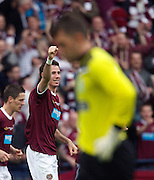 The William Hill Scottish FA Cup Final 2012 Hibernian Football Club v Heart Of Midlothian Football Club..19-05-12... Ryan McGowan of Hearts celebrates scoring to make it 4-1, during the William Hill Scottish FA Cup Final 2012 between (SPL) Scottish Premier League clubs Hibernian FC and Heart Of Midlothian FC. It's the first all Edinburgh Final since 1986 which Hearts won 3-1. Hearts bid to win the trophy since their last victory in 2006, and Hibs aim to win the Scottish Cup for the first time since 1902....At The Scottish National Stadium, Hampden Park, Glasgow...Picture Mark Davison/ ProLens PhotoAgency/ PLPA.Saturday 19th May 2012.