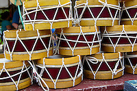 Souvenir toy drums at Williamsburg, Virginia gift shop.