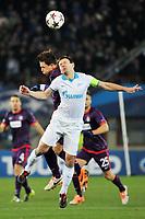 UEFA Champions League, Gruppenphase, FK Austria Wien vs Zenit Sankt Petersburg. Bild zeigt Marko Stankovic (A.Wien) und Konstantin Zyryanov (St.Petersburg).<br /> Norway only