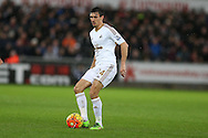 Jack Cork of Swansea city in action. Barclays Premier league match, Swansea city v Crystal Palace at the Liberty Stadium in Swansea, South Wales on Saturday 6th February 2016.<br /> pic by Andrew Orchard, Andrew Orchard sports photography.