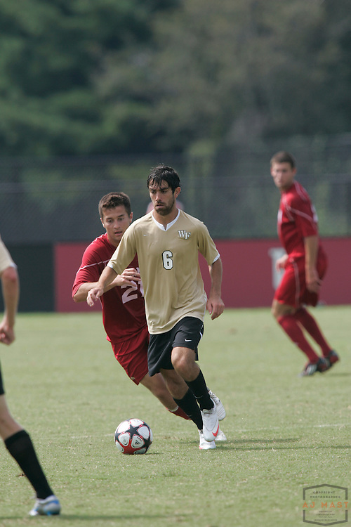 06 September 2009: Wake Forest's Austin da Luz  as the Indiana Hoosiers played the Wake Forest Demon Deacons in a college soccer game in Bloomington, Ind.