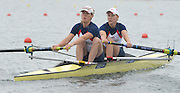 Eton Dorney, United Kingdom,  GBR W2-. Bow Katie GREVES and Louisa REEVE. Eton Rowing Centre. FISA World Cup II, Dorney Lake. Friday  21/06/2013 Berkshire.  [Mandatory Credit Peter Spurrier/ Intersport Images]