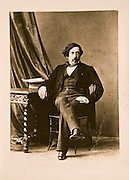 EXCLUSIVE (b/w photo) Victor Place (1818 - 1875) in Corbeil, 18th of July 1818, by the photographer of SM l'Empereur, Essonne, France...Additional info :..Victor Place à Corbeil, 18 juillet 1818 - Photographe de SM l'Empereur. 8 bd des Italiens, Paris.