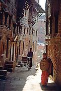 Street scene in Bhaktapur, Nepal
