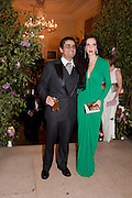 MR. AND MRS. AMJAD BSEISU, Triennial Summer Ball, Royal Academy. Piccadilly. London. 20 June 2011. <br /> <br />  , -DO NOT ARCHIVE-© Copyright Photograph by Dafydd Jones. 248 Clapham Rd. London SW9 0PZ. Tel 0207 820 0771. www.dafjones.com.