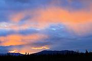 Sunset along the Alaska Highway<br /> Near Whitehorse<br /> Yukon<br /> Canada