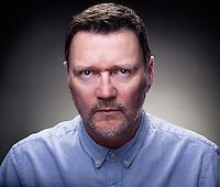 A thought provoking portrait featuring Ian Puleston-Davies. The portrait shows Ian looking like Winston Smith the character portrayed by John Hurt in the film 1984 based on a novel by George Orwell