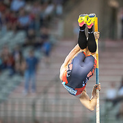 BRUSSELS, BELGIUM:  September 3:   Menno Vloon of the Netherlands in action during the pole vault competition at the Wanda Diamond League 2021 Memorial Van Damme Athletics competition at King Baudouin Stadium on September 3, 2021 in  Brussels, Belgium. (Photo by Tim Clayton/Corbis via Getty Images)
