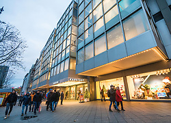 Karstadt department store on famous Kurfurstendamm shopping street in Berlin, Germany.