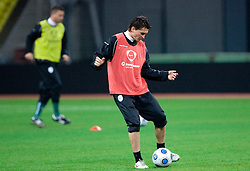 Andraz Kirm at practice of Slovenian team a day before FIFA World Cup 2010 Qualifying match between Russia and Slovenia, on November 13, 2009, in Stadium Luzhniki, Moscow, Russia.  (Photo by Vid Ponikvar / Sportida)