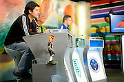 Belo Horizonte_MG, Brasil...Dudu (torcedor do Cruzeiro), Jair Bala (torcedor do America) e Bauxita(torcedor do Cruzeiro) na gravacao do programa esportivo Alterosa Esportes...Dudu (Cruzeiro fan), Jair Bala  (America fan) and Bauxita (Cruzeiro fan) in the recording of sport program Alterosa Esportes...Foto: LEO DRUMOND / NITRO
