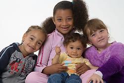 Portrait of young children,