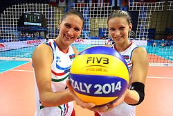 Azerbaijan's sisters Yelena Parkhomenko and Oksana Kurt