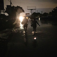 At night in the La Planeta neighbourhood of San Pedro Sula, the flood waters of hurricane Iota flooded tens of thousands of houses destroying the contents of most of the houses. Fatalities were low, but many people spent days on roofs waiting to be rescued.