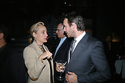 ANDREA BARRON AND ALASDHAIR WILLIS, Dinner given by Established and Sons to celebrate Elevating Design.  P3 Space. University of Westminster, 35 Marylebone Rd. London NW1. -DO NOT ARCHIVE-© Copyright Photograph by Dafydd Jones. 248 Clapham Rd. London SW9 0PZ. Tel 0207 820 0771. www.dafjones.com.