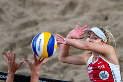 Nicole McNamara CAN in action during the third day of the beach volleyball event King of the Court at Jaarbeursplein on September 11, 2020 in Utrecht.
