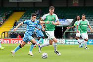 Jack Aitchinson (10) of Forest Green Rovers on the attack during the Pre-Season Friendly match between Yeovil Town and Forest Green Rovers at Huish Park, Yeovil, England on 31 July 2021.