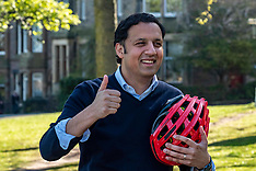 Scottish Labour leader on his bike during run up to election Edinburgh, 23 April 2021