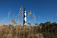 NC00871-00....NORTH CAROLINA - Cape Lookout Lighthouse on the South Core Banks in Cape Lookout National Seashore.
