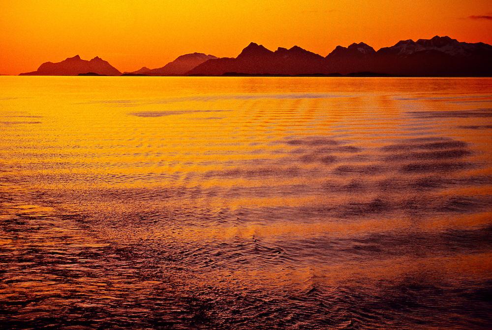 Midnight Sun, Arctic, near Bodo, Northern Norway