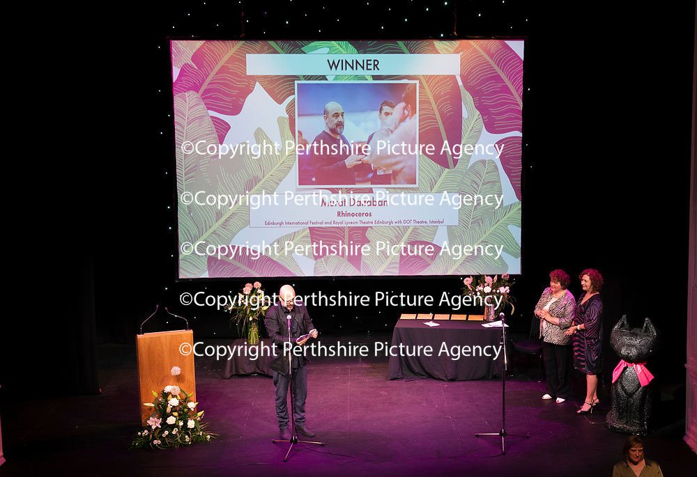 EMBARGOED UNTIL 18.00 (6PM) 10.06.18 <br />Critics' Awards for Theatre in Scotland at Perth Theatre…BEST DIRECTOR award winner Murat Daltaban gives a speech after his award<br />for further info contact Lesley Booth at CATS on 07799 414474<br />Picture by Graeme Hart.<br />Copyright Perthshire Picture Agency<br />Tel: 01738 623350  Mobile: 07990 594431
