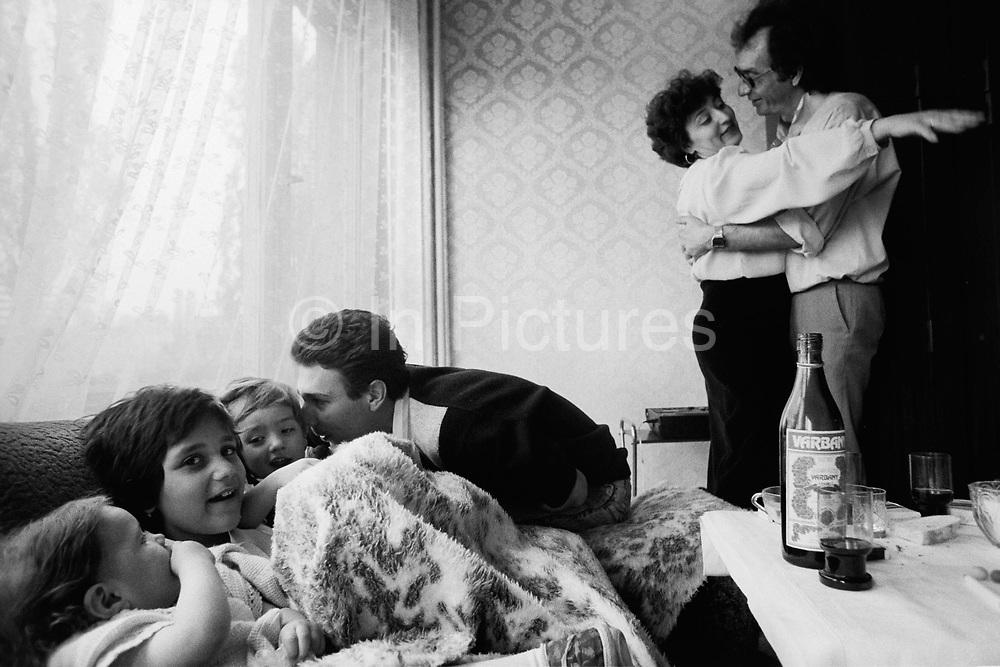 Family celebration. Sophia, Bulgaria. April 1989