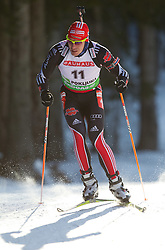 Arnd Peiffer of Germany during the Men 20 km Individual of the e.on IBU Biathlon World Cup on Thursday, December 16, 2010 in Pokljuka, Slovenia. The fourth e.on IBU World Cup stage is taking place in Rudno Polje - Pokljuka, Slovenia until Sunday December 19, 2010.  (Photo By Vid Ponikvar / Sportida.com)