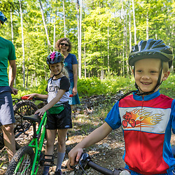Mountain biking at the Shepards Farms Preserve in Norway, Maine.
