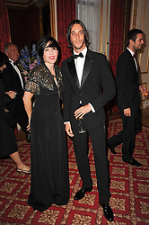 SHARLEEN SPITERI and VLADIMIR RESTOIN-ROITFELD at a dinner hosted by HRH Prince Robert of Luxembourg in celebration of the 75th anniversary of the acquisition of Chateau Haut-Brion by his great-grandfather Clarence Dillon held at Lancaster House, London on 10th June 2010.